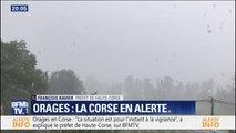"""Orages: pour le préfet de Haute-Corse, """"la situation est, pour l'instant, à la vigilance"""""""