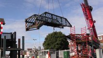 Lancing railway bridge removed
