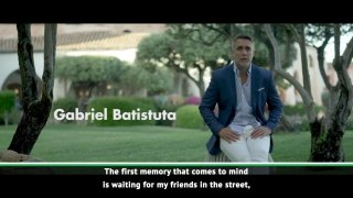 Batistuta reflects on journey into football during Docufilm