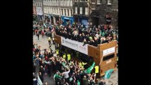 Hibs parade Scottish Cup