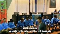 La Lazio nella sala consiliare di Auronzo