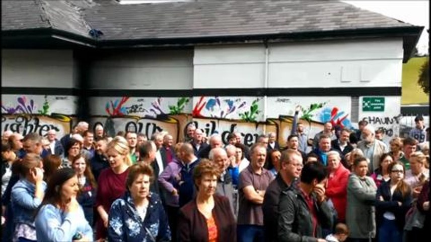 Hundreds protest over Dove House attacks