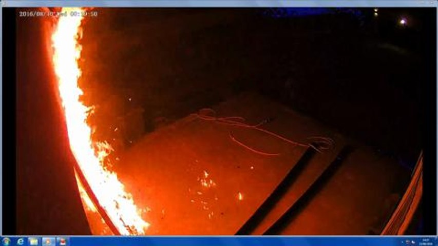 Shock video of 'petrol bomb' attack