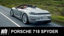 2019 Porsche 718 Spyder 420 ch ESSAI POV Auto-Moto.com