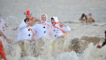 Pictures of Boxing Day dips in South Shields