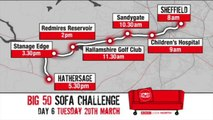 BBC Look North stars push Big 50 Sofa Challenge for Sport Relief