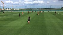 Newcastle's players train in Spain