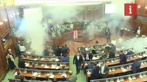 Politicians set off tear gas in Kosovan parliament