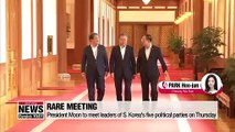 President Moon to discuss Japan's export curbs with 5 political parties on Thursday