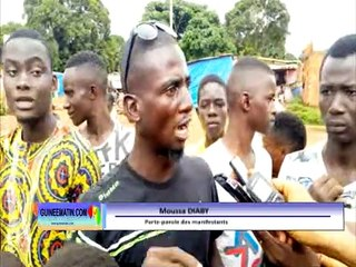 Kankan : manifestation des jeunes du quartier Briqueterie