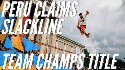 Peru is the trickline Team World Champion   GLOBETROTTER World Slackline Masters 2019 - Munich (GER)