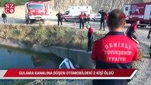 Otomobil sulama kanalına düştü: 2 ölü