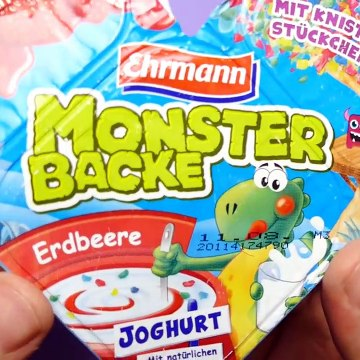 MONSTER BACKE Frozen and Smarties Joghurts