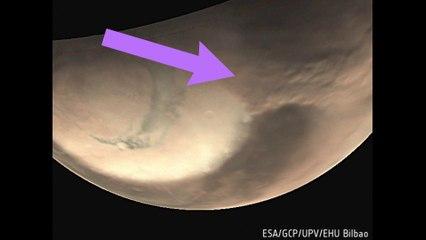 MARTE en temporada de tormentas, el Polo Norte retrocede y Mars Express capta enormes remolinos
