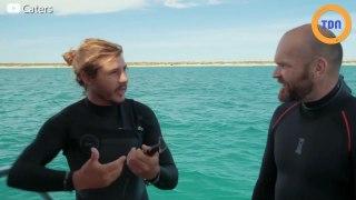 Une raie manta demande de l'aide à des plongeurs pour qu'ils lui retirent des hameçons !