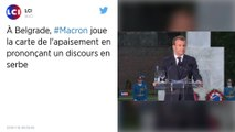 Pour se faire pardonner, Emmanuel Macron prononce un discours en serbe