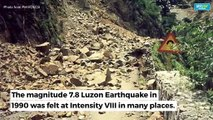 What triggered the 1990 Luzon quake