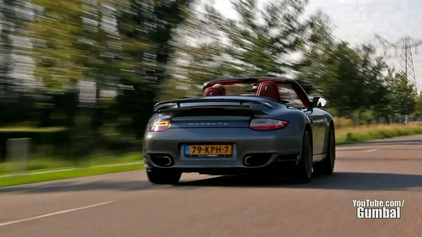 Porsche 997 Turbo Cabriolet - Acceleration sound-- - 1080p HD