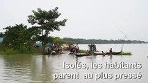 Inde: des villages entiers submergés par la mousson dans l'Assam