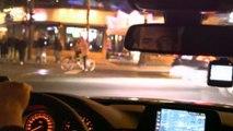 Almanya'da polis yasa dışı araba yarışçılarının peşinde