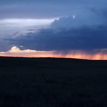 Thunderstorm Over Buffalo Gap National Grassland at Sunset