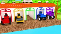 Learn Colors Monster Construction Vehicles VS Street Vehicles Magic Slide Pool Pretend Play for Kids