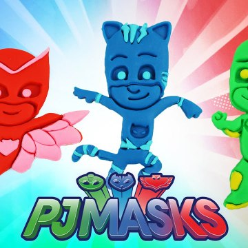 How to Make PJ Masks Catboy,Owlette and Gekko with Play Doh Fun and Creative Kids Videos for Toddler