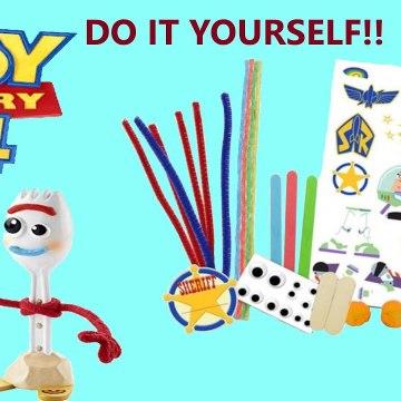 Toy Story 4 DIY FORKY Creativity Set Make Your Own Buzz Lightyear Pom Pom Ducky - Bunny--