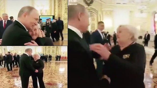 Putin hugs teacher, spends time with her despite busy schedule