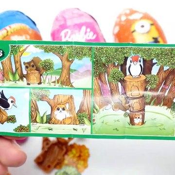 Super Surprise Eggs Kinder Surprise Minions Hot Wheels and Barbie