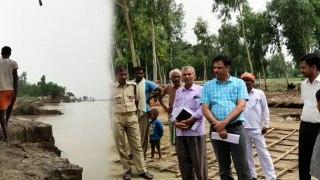 बाराबंकी: खतरे के निशान पर घाघरा नदी, गांवों में दहशत, लोगों ने छोड़े अपने घर