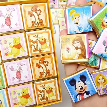 Disney Memory Chocolate Mickey Mouse and Winnie Pooh