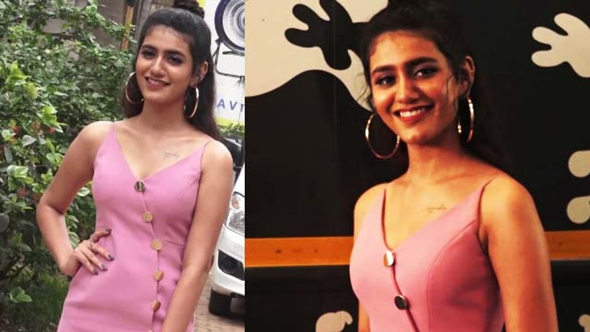 Priya Prakash Varrier looks glamorous in spaghetti dress at Sridevi Bungalow event | FilmiBeat