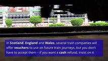 You can claim compensation for train delays.