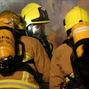 Pictures from the fire in Colebrook Road