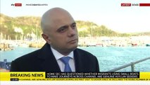 Sajid Javid questions whether migrants in channel are 'genuine'
