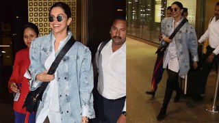 Deepika Padukone SPOTTED with cute smile at Mumbai airport; Watch Video | FilmiBeat