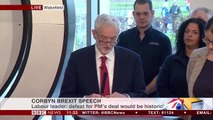 Jeremy Corbyn says Labour would renegotiate Brexit deal after general election