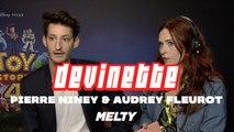 Toy Story 4 - Pierre Niney et Audrey Fleurot se font un blind-test Disney
