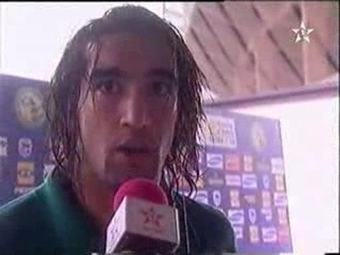 Interview de la selection aprés le match namibie