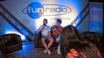 Kungs en interview dans le studio de Fun Radio à l'EMF 2019