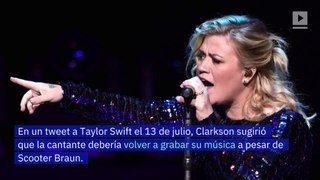 Kelly Clarkson aconseja a Taylor Swift relanzar canciones antiguas