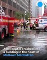 Helicopter crashes into New York City high rise near Times Square