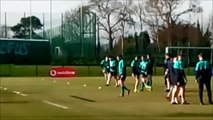 Ireland hold open rugby training session in Belfast