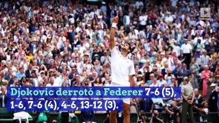 Novak Djokovic derrota a Roger Federer en la final de cinco sets de Wimbledon