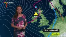 Met Office Monday afternoon forecast 11/03/2019 - Storm Gareth