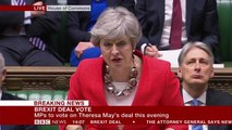 Theresa My opens Brexit debate in House of Commons