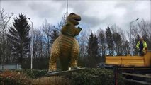 Rexie the dinosaur comes home