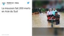 La mousson fait 200 morts et des milliers de déplacés en Asie du sud
