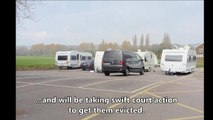 Travellers arrive in Cosham